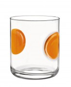"Farvet glas ""Giove"", Orange drinkglas 31 cl"